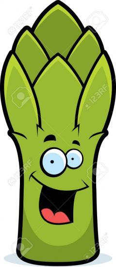 42733675 une bande dessinee asperges vertes souriant et heureux 1